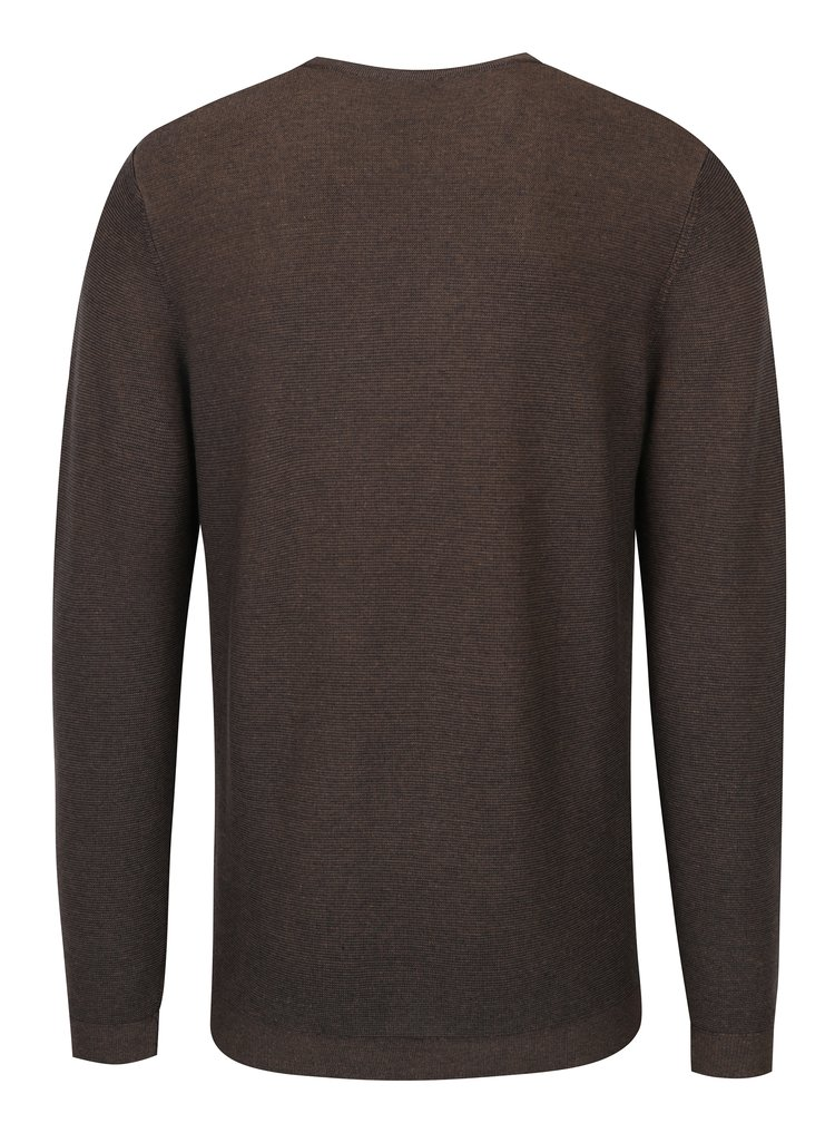 Hnědý lehký svetr Selected Homme Bruno