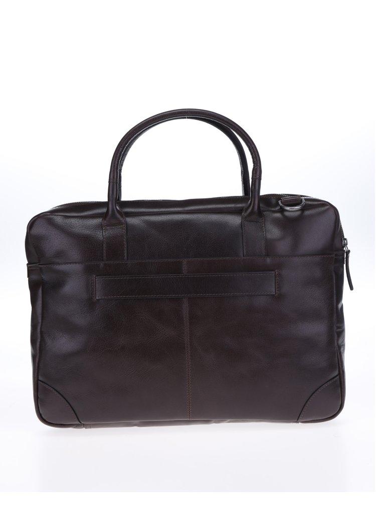 Tmavě hnědá pánská taška na notebook Royal RepubliQ