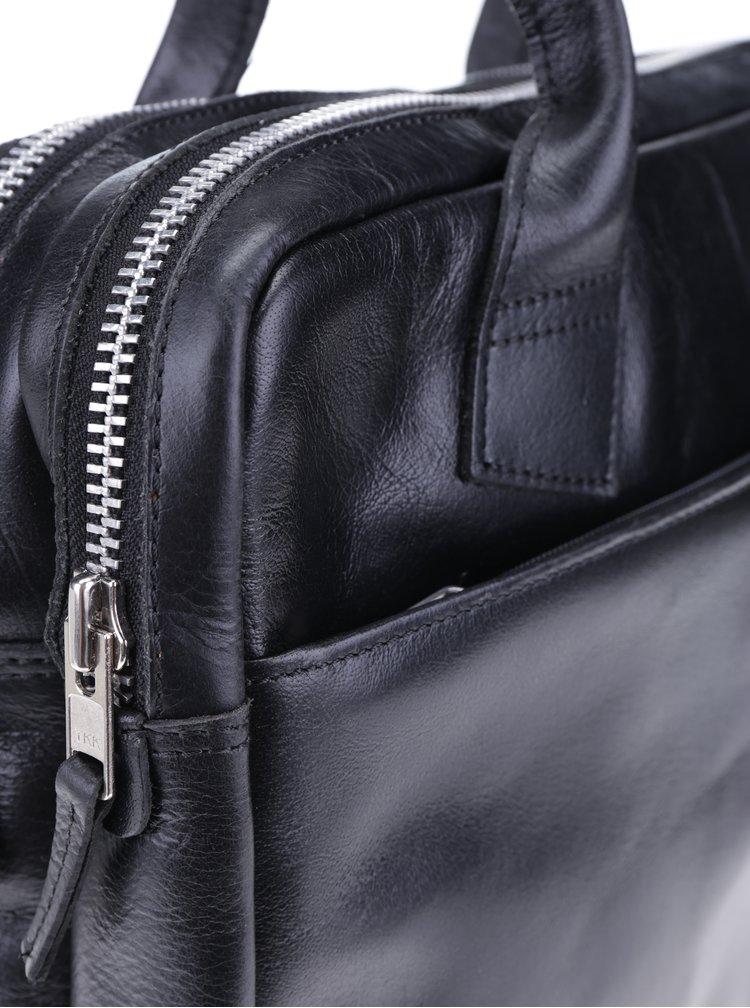 Geanta neagra din piele naturala pentru notebook - Royal RepubliQ