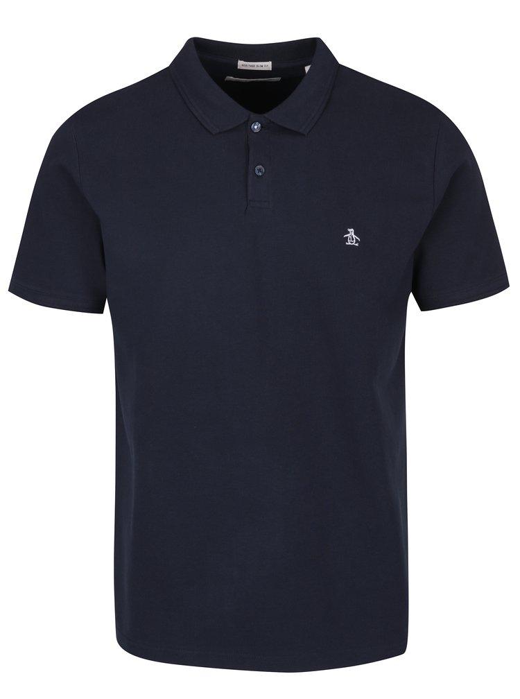 Tmavě modré slim fit polo tričko Original Penguin Winston