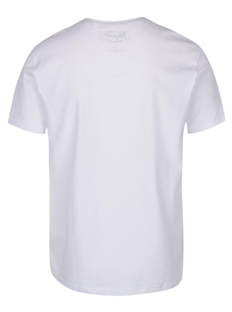 Tricou alb cu logo print  Original Penguin Distressed Circle