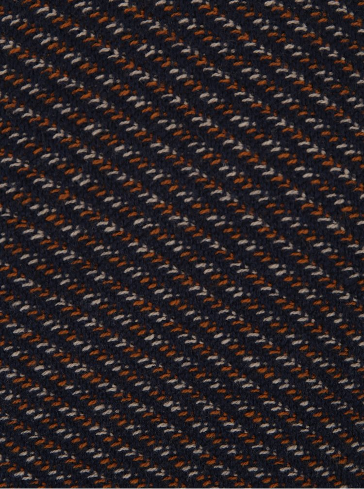 Tmavě modrý vzorovaný svetr s příměsí vlny Selected Homme Twill