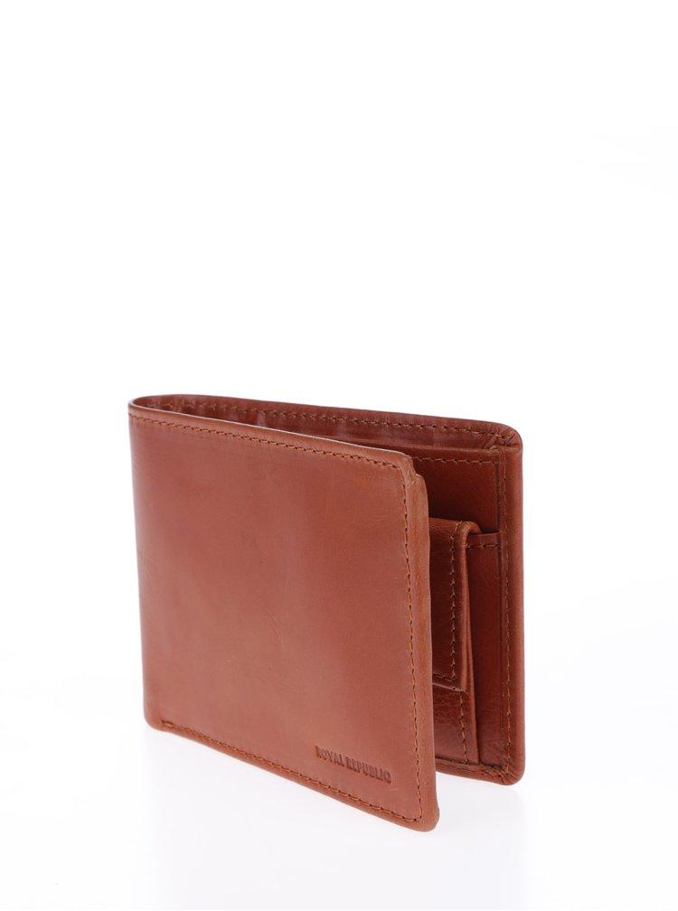Hnědá pánská kožená peněženka Royal RepubliQ