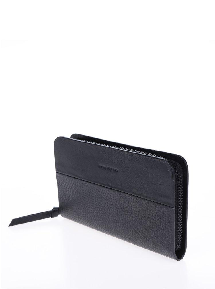 Černá dámská kožená peněženka s jemným vzorem Royal RepubliQ