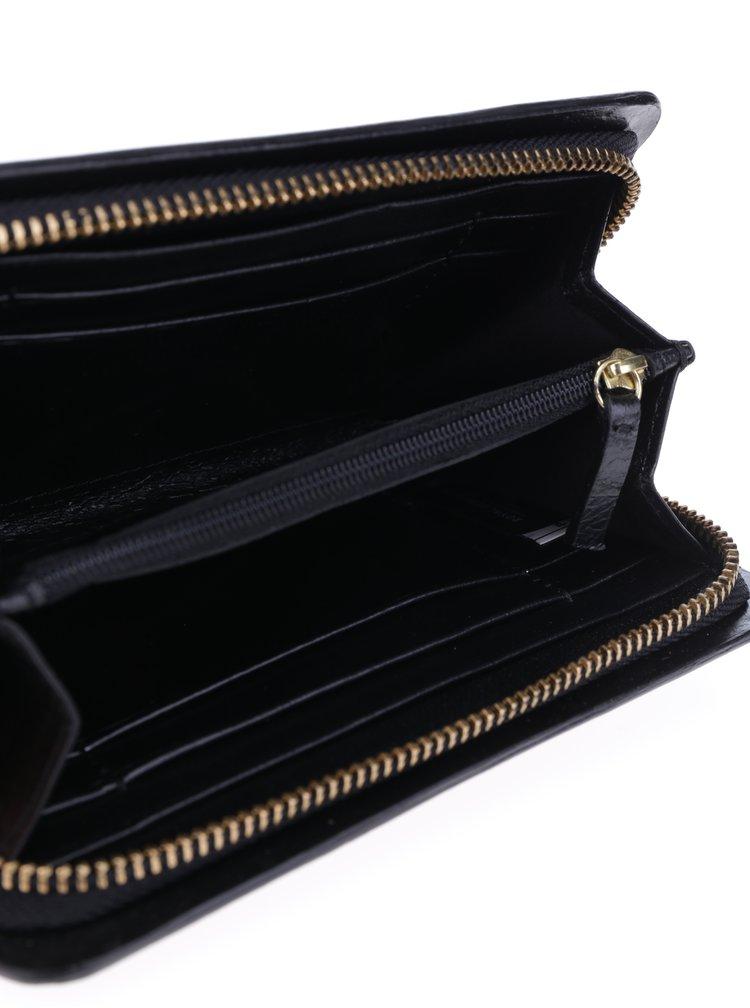 Portofel din piele naturală negru pentru femei - Royal RepubliQ