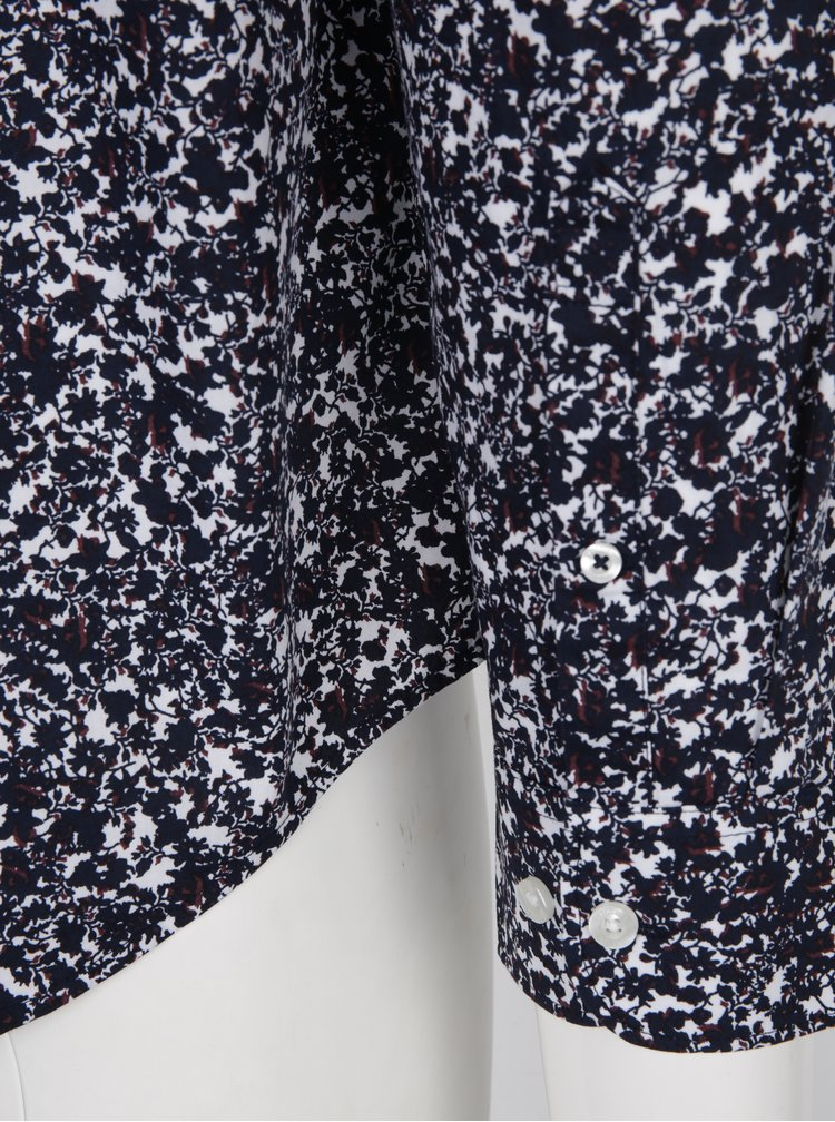 Camasa slim fit bleumarin& alb cu imprimeu si maneci lungi Original Penguin Floral