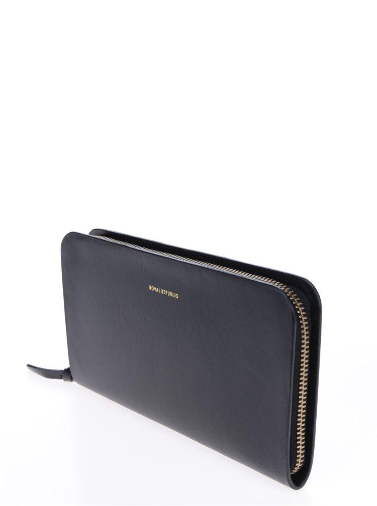 Černá velká dámská kožená peněženka Royal RepubliQ
