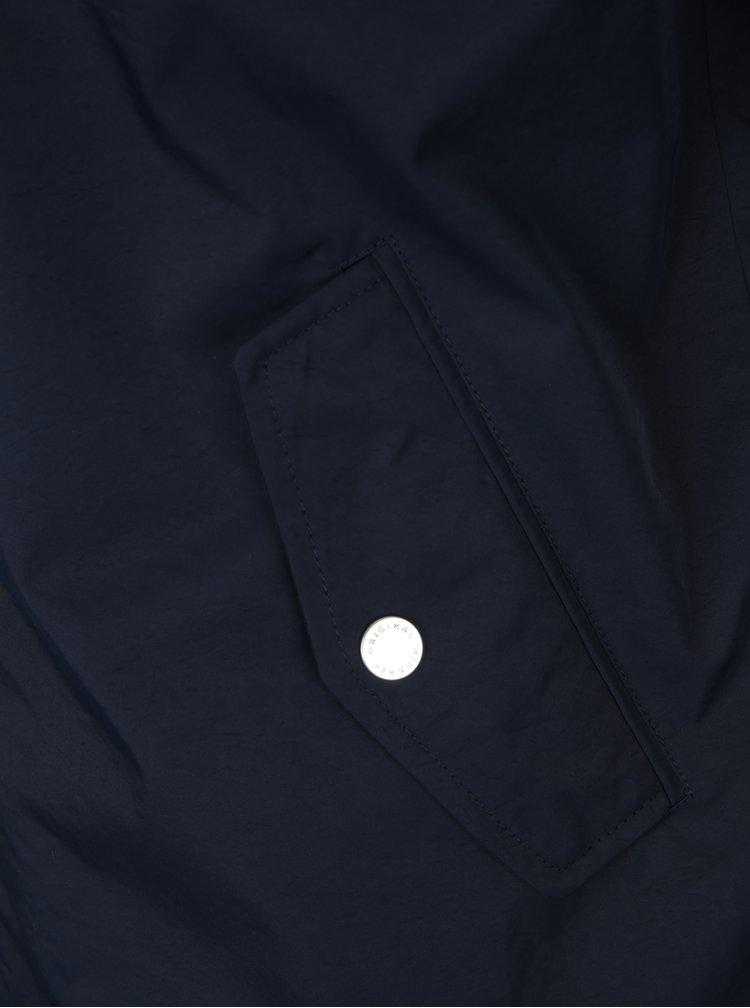 Tmavě modrá lehká šusťáková bunda s kapucí Original Penguin Ratner