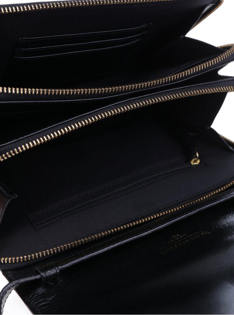 Geanta crossbody neagra din piele - Royal RepubliQ