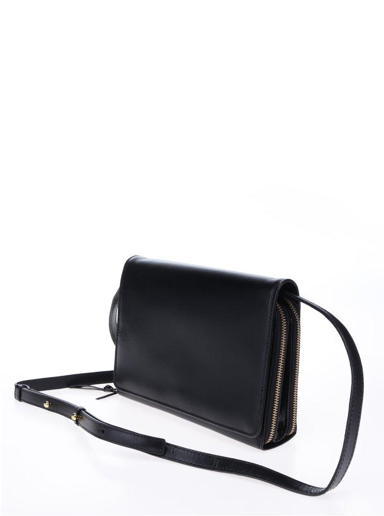 Geantă crossbody neagră din piele - Royal RepubliQ