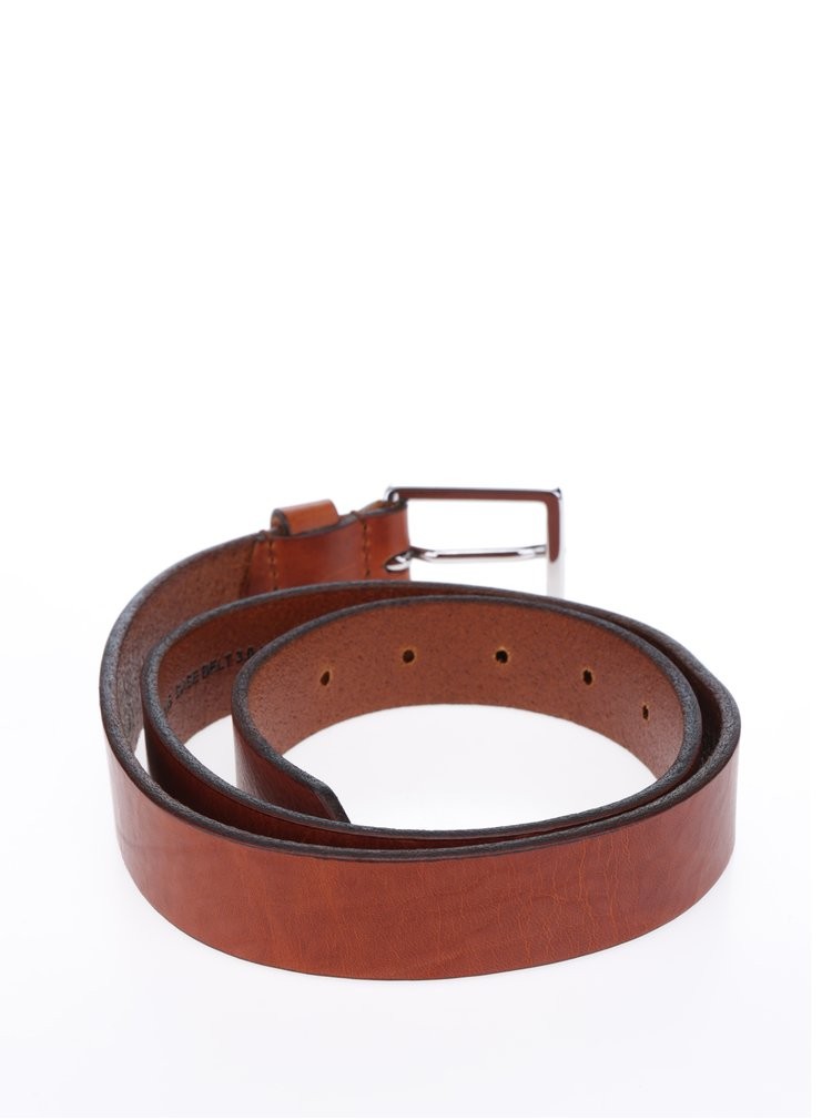 Hnědý dámský kožený žíhaný pásek Royal RepubliQ