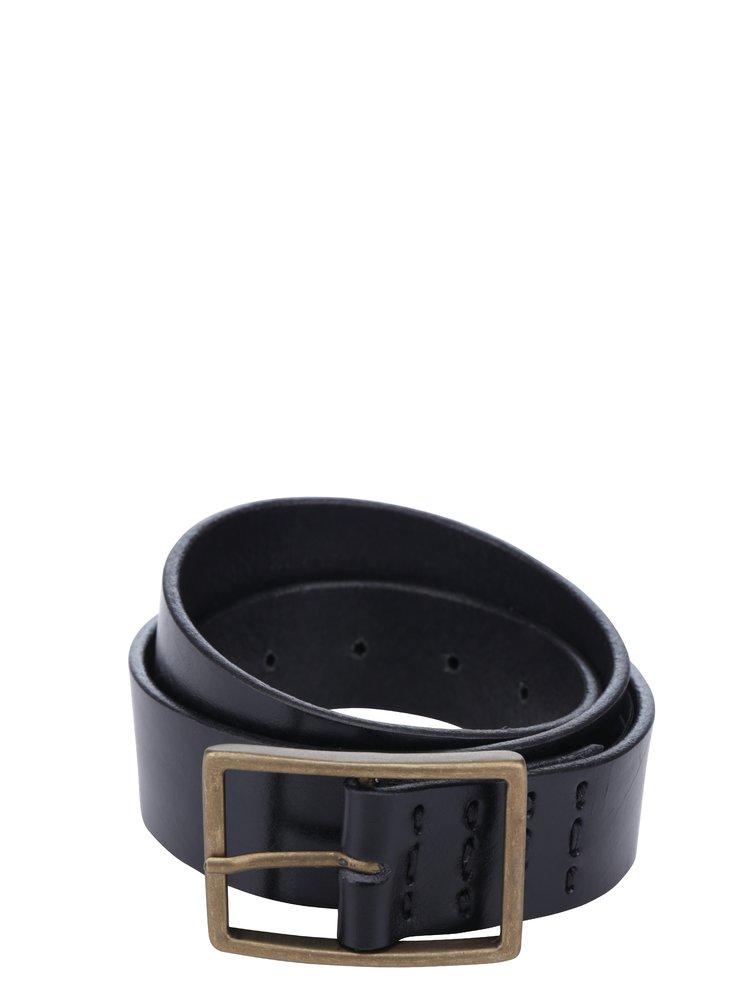 Černý dámský kožený pásek s vyšívanými detaily Royal RepubliQ