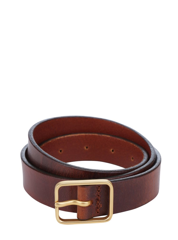 Hnědý pánský tenký kožený pásek Royal RepubliQ