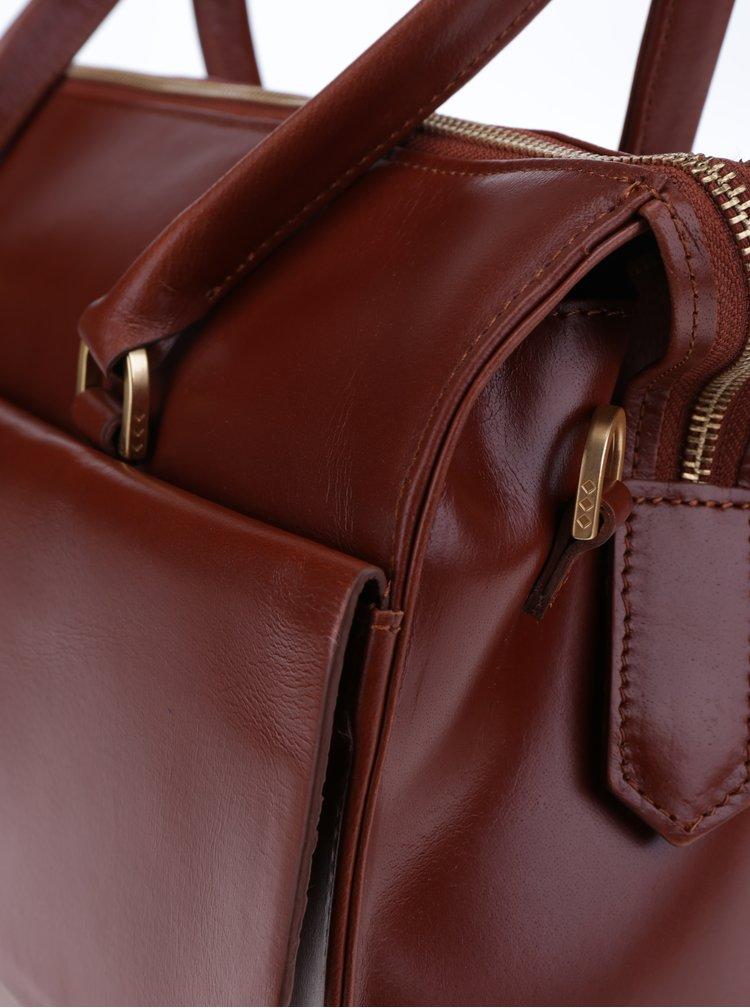 Hnědá kožená kabelka Royal RepubliQ