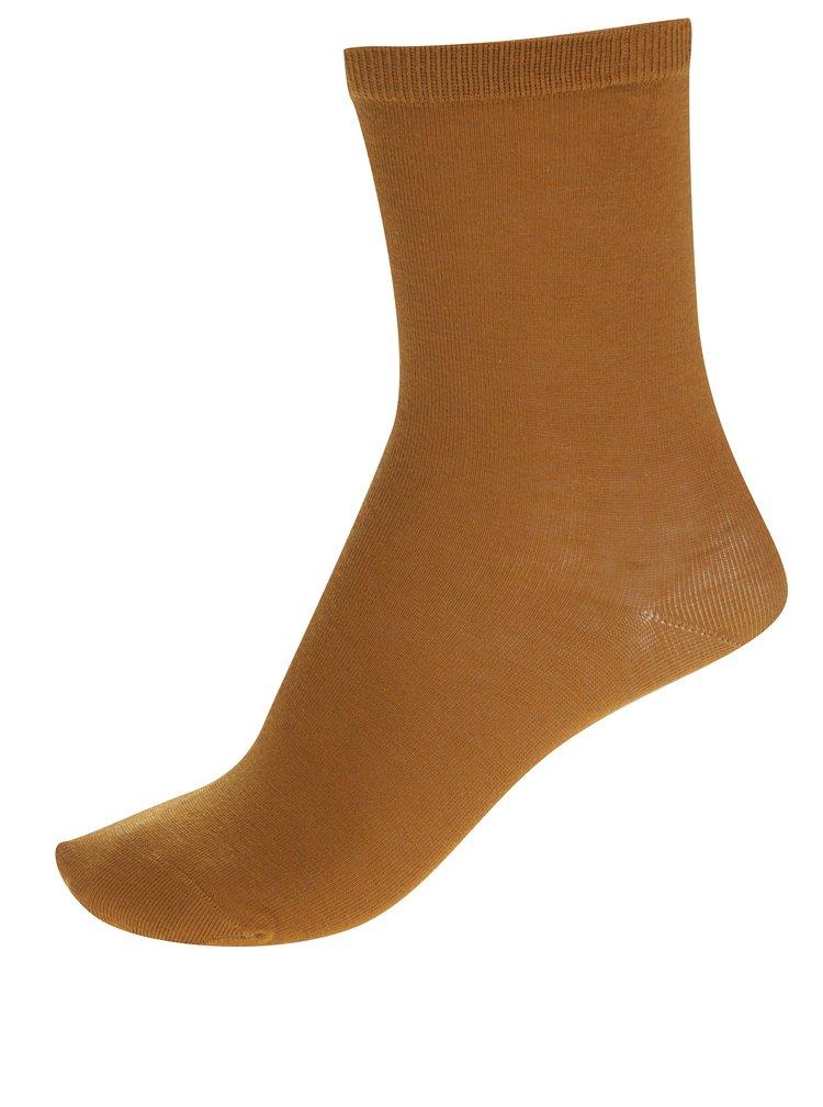 Hnědé ponožky Selected Femme Bobby