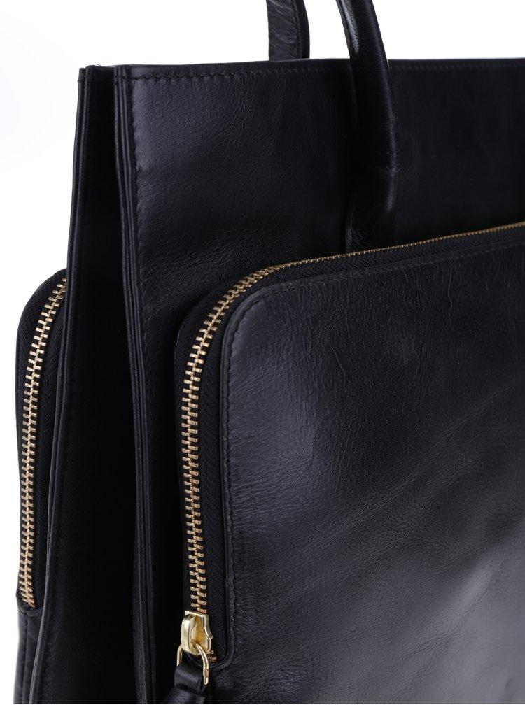 Geanta neagra din piele naturala - Royal RepubliQ