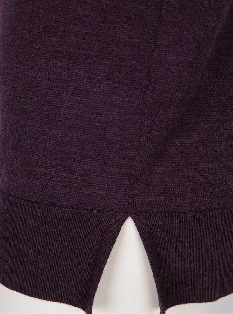 Helanca mov inchis din lana merino - Selected Femme Meroni