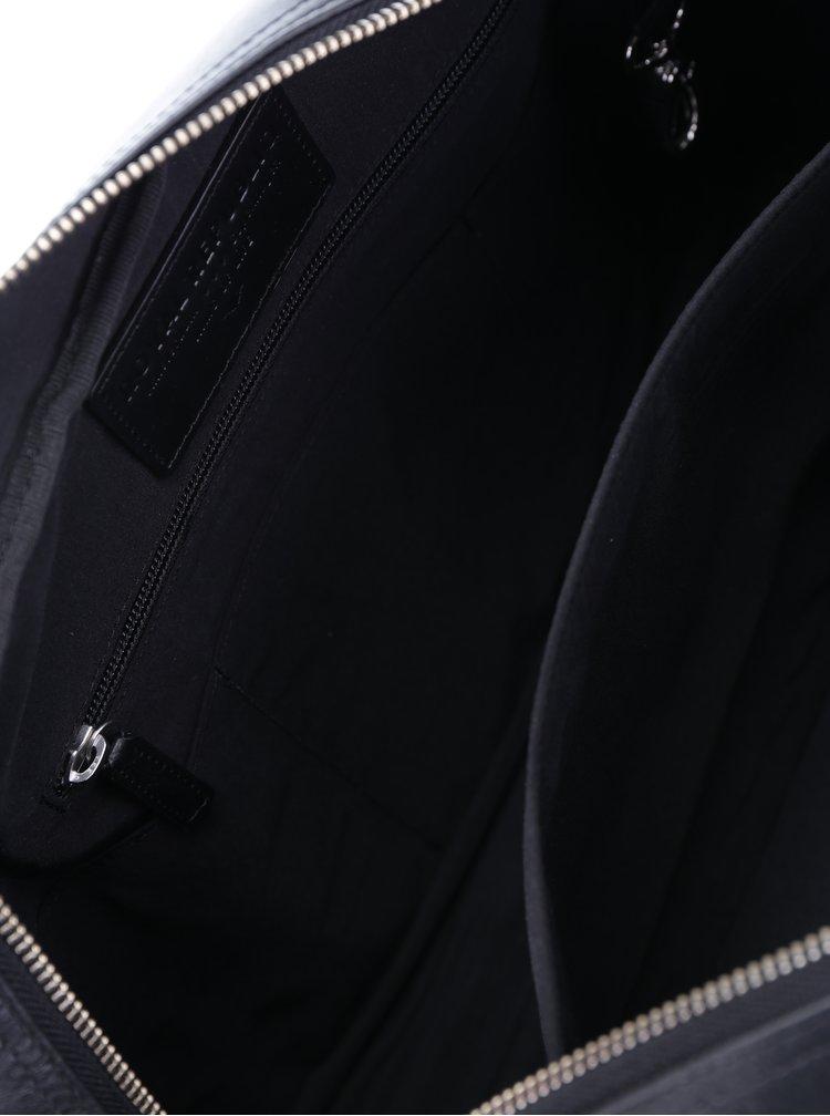 Černá dámská kožená taška na notebook Royal RepubliQ