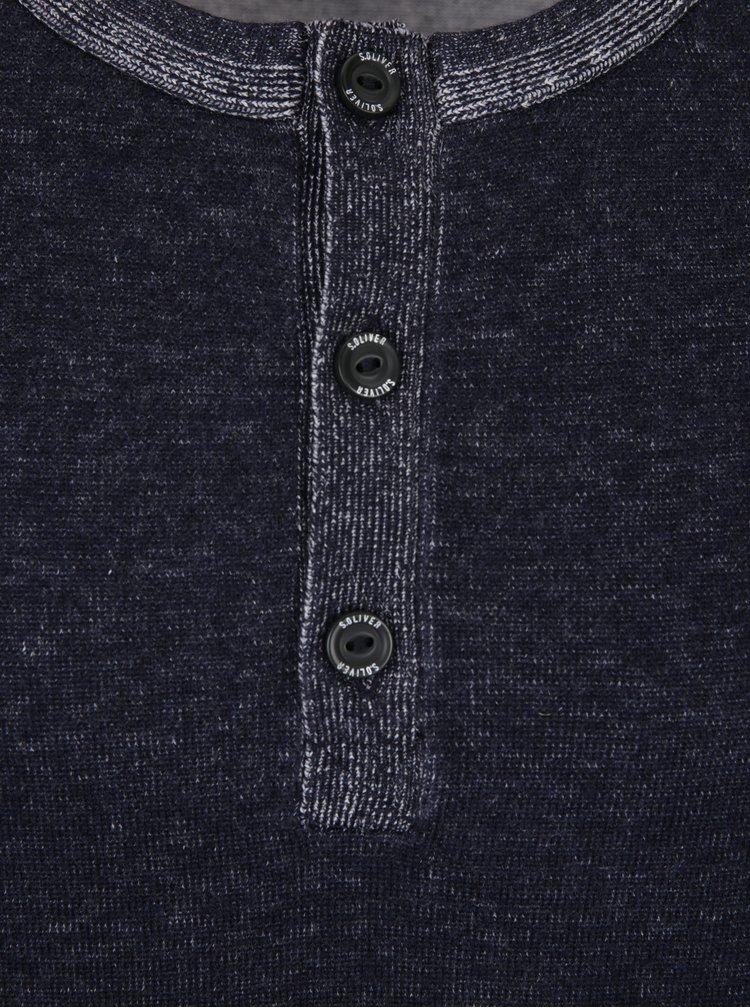 Bluza bleumarin melanj din jerseu subtire s.Oliver