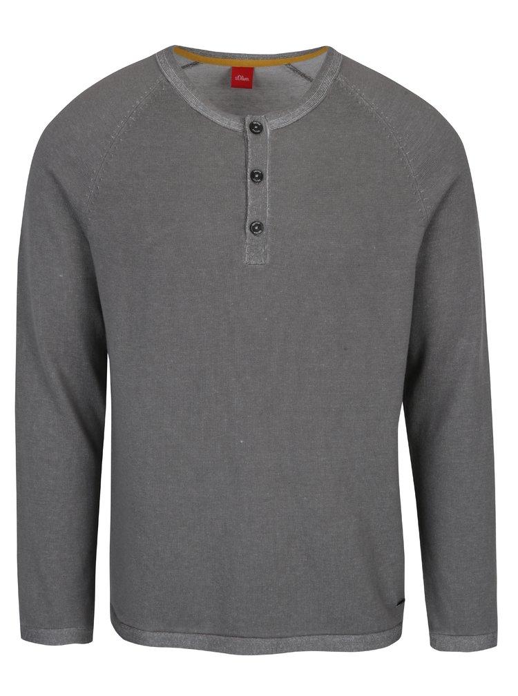 Bluza gri din jerseu subtire s.Oliver