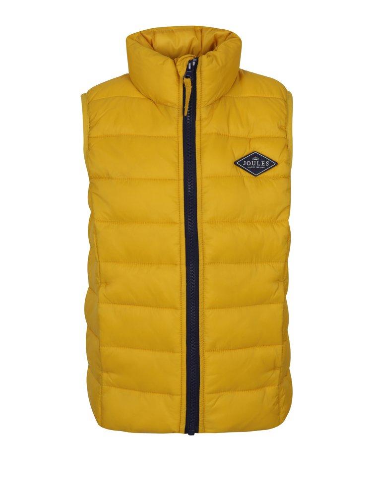 Žlutá klučičí funkční prošívaná vesta s kapsami Tom Joule