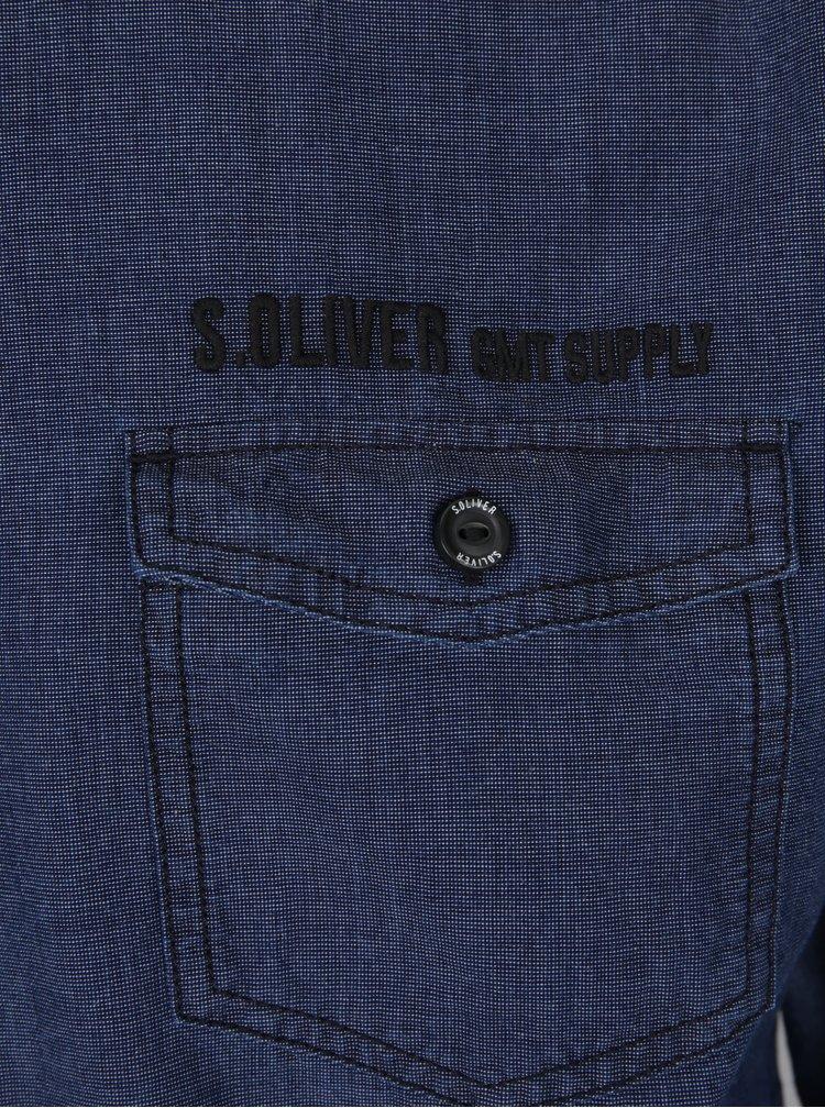 Tmavě modrá pánská košile s.Oliver