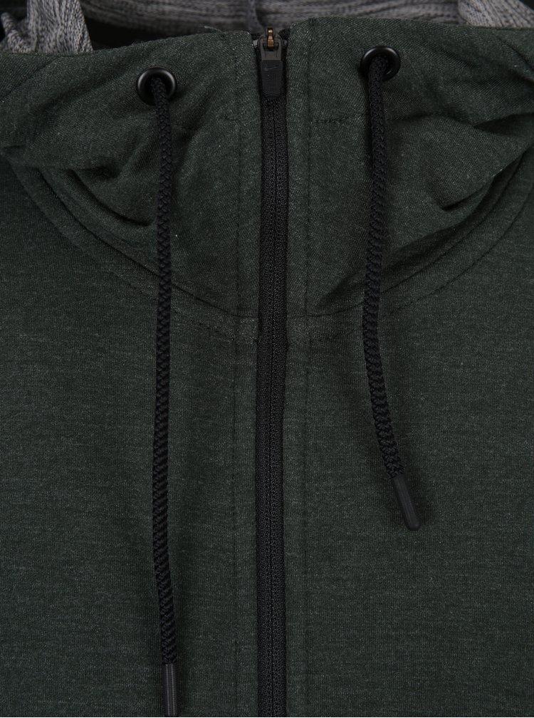 Tmavě zelená pánská funkční mikina s kapucí Nike Hoodie