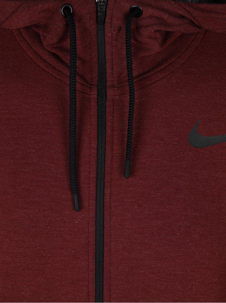 Vínová pánská funkční mikina s kapucí Nike Hoodie