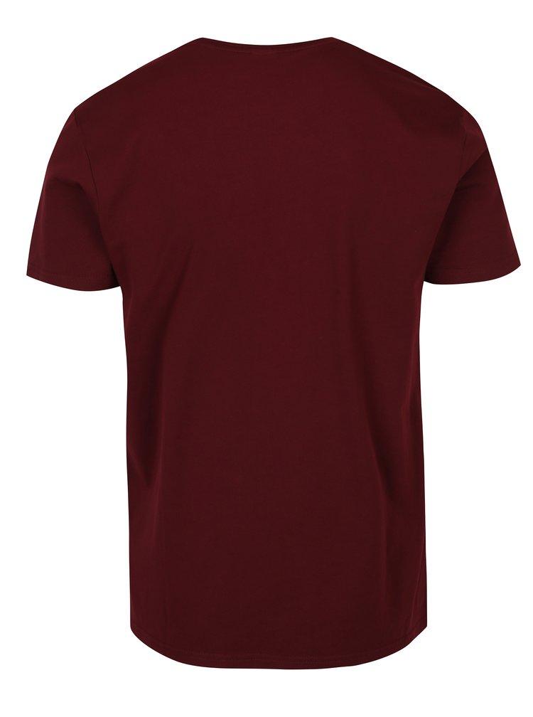 Tricou roșu bordo cu print s.Oliver