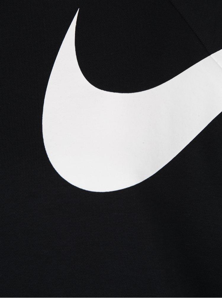 Černá dámská volná krátká funkční mikina s potiskem Nike