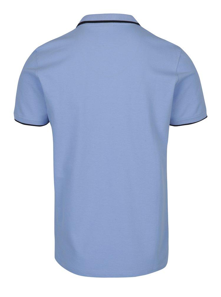 Světle modré pánské slim fit polo tričko s.Oliver