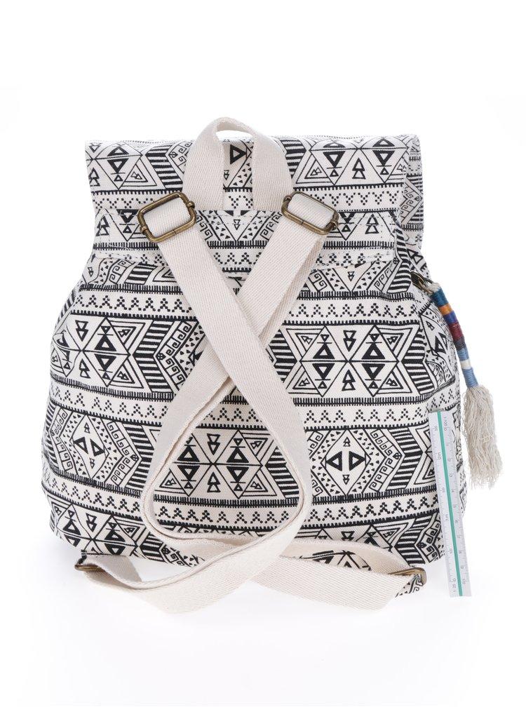 Krémový vzorovaný malý dámský batoh TOMS
