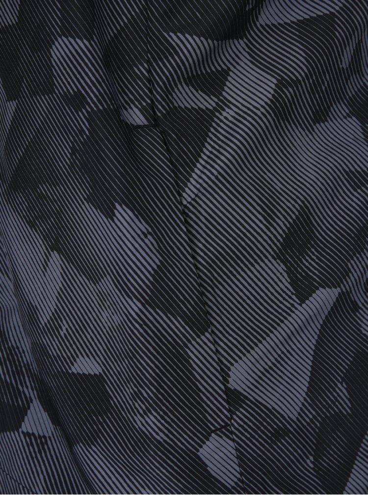 Jacheta impermeabila neagra cu print gri pentru femei Nike