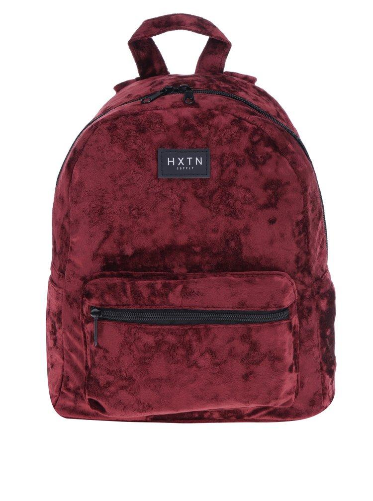 Rucsac rosu bordo din blana artificiala HXTN supply 12 l