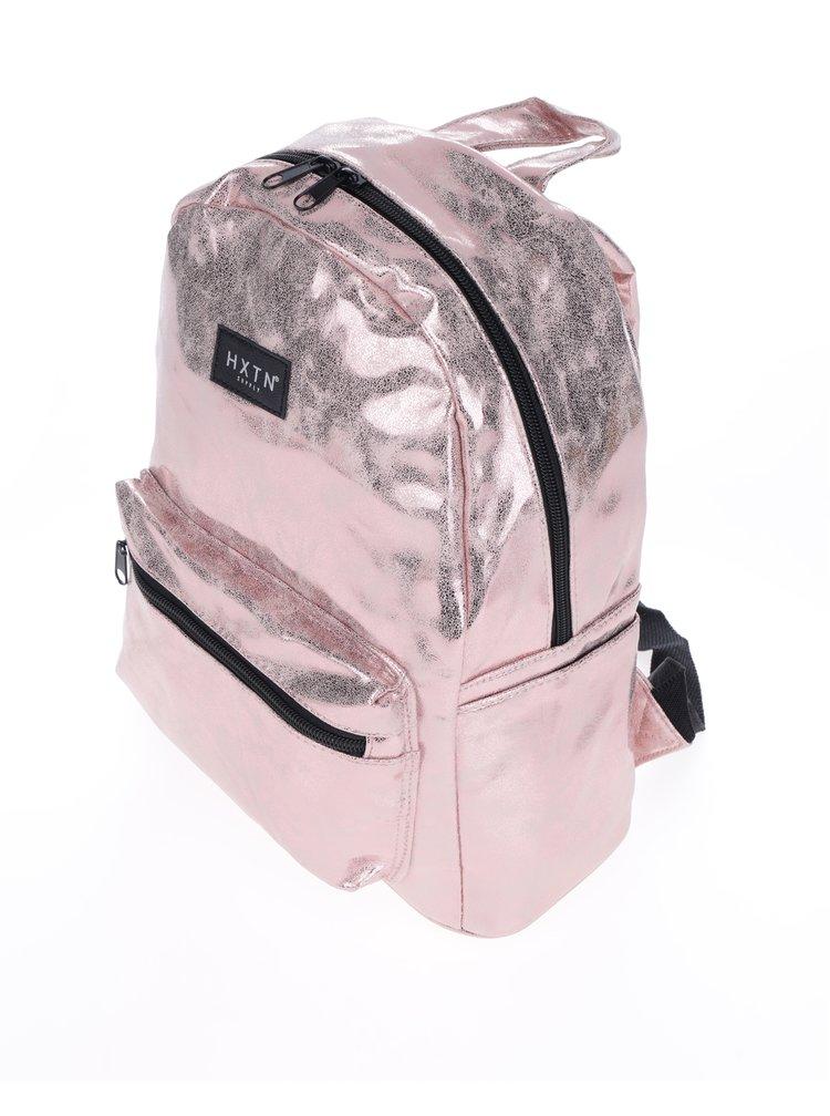 Světle růžový metalický batoh HXTN supply 12 l