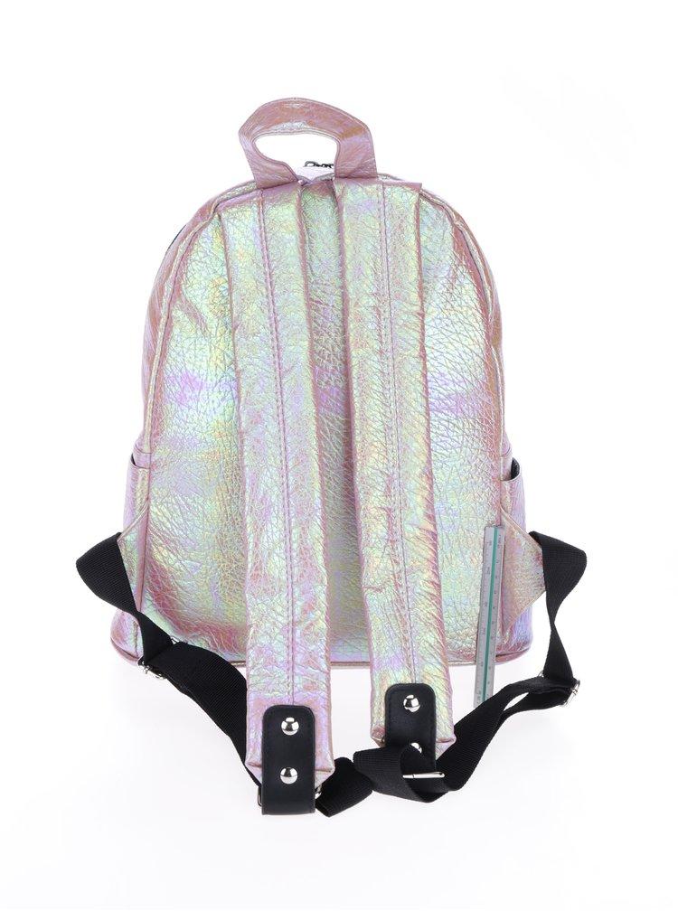 Světle růžový holografický batoh HXTN supply