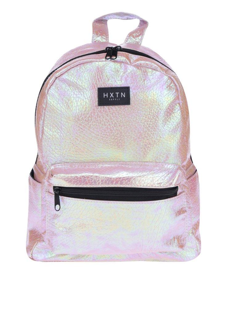 Světle růžový holografický batoh HXTN supply 12 l