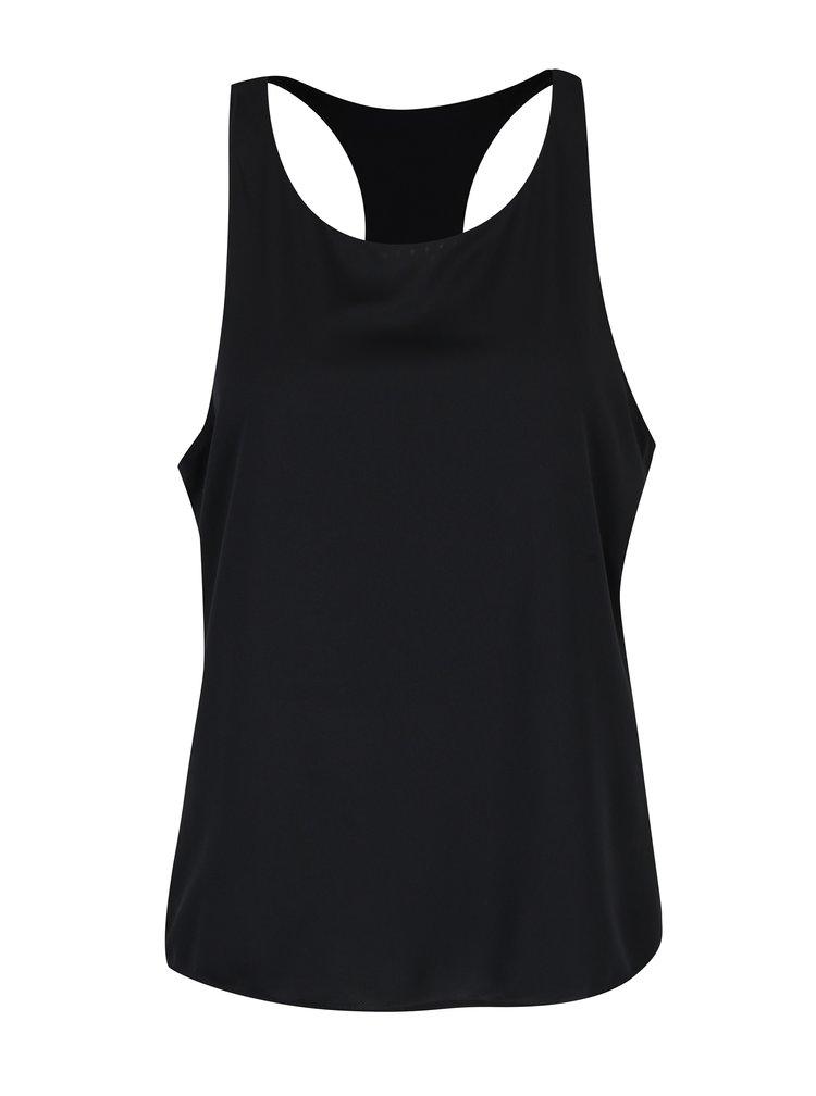Top negru cu model suprapus pentru femei Nike