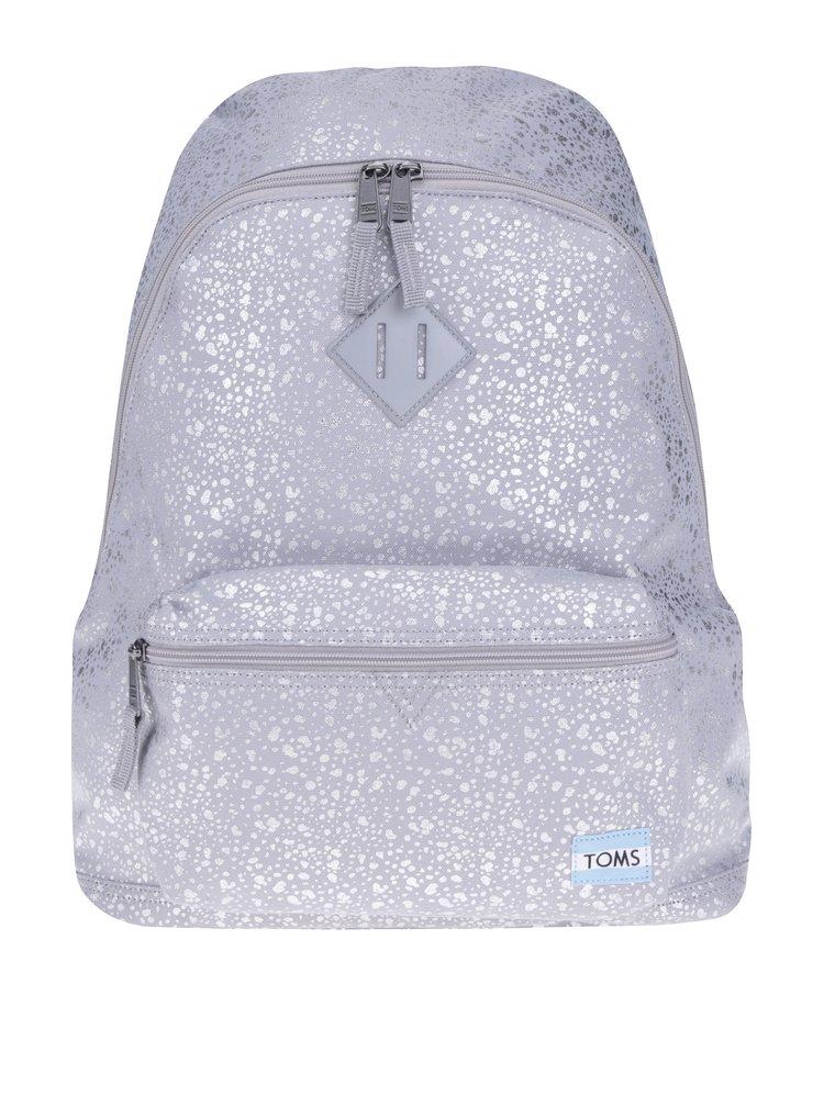 Dámský batoh ve stříbrné barvě s kapsou na notebook TOMS