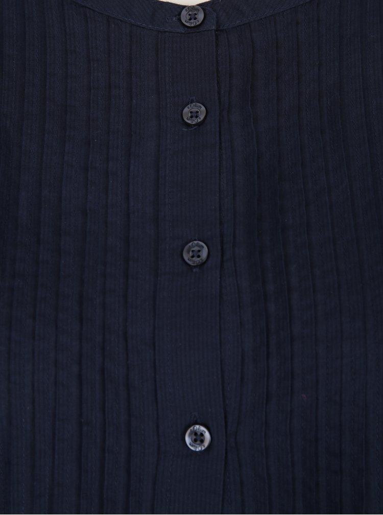 Tmavě modrá dámská košile s žebrovanými detaily s.Oliver