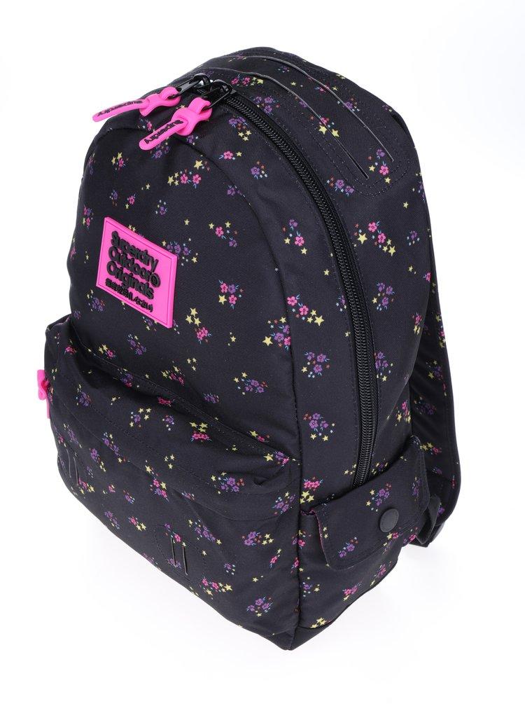 Černý dámský batoh s motivem hvězd Superdry Montana