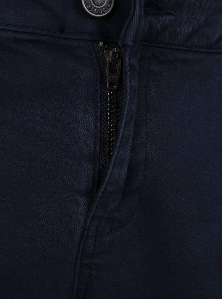 Tmavě modré dámské zkrácené slim fit džíny s.Oliver