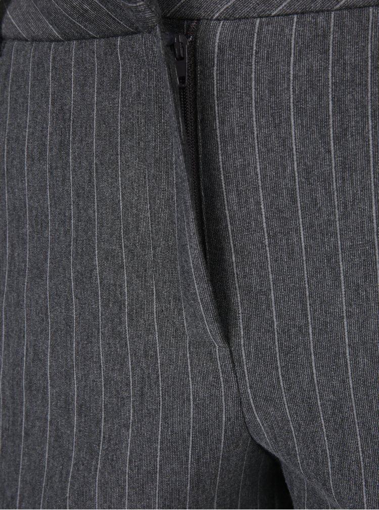 Šedé pruhované kalhoty VERO MODA Victoria