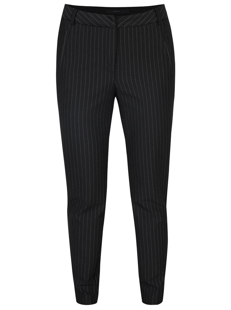 Černé pruhované kalhoty VERO MODA Victoria