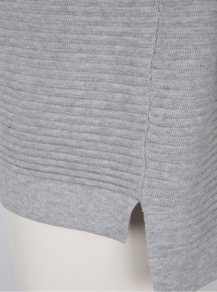 Světle šedý žebrovaný svetr Selected Femme Laua