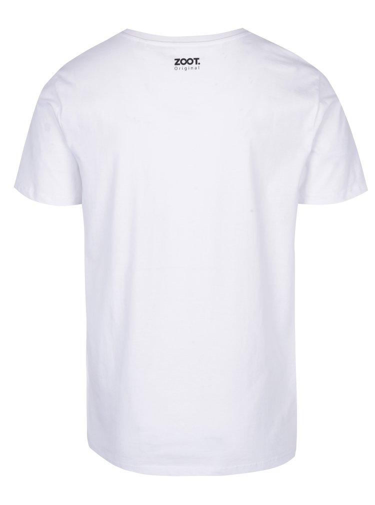 Tricou alb pentru barbati din bumbac organic- ZOOT Originál School can kill