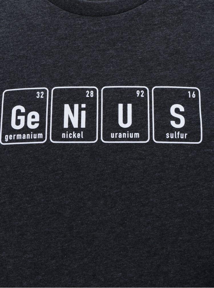Tmavě šedé pánské tričko ZOOT Originál Genius