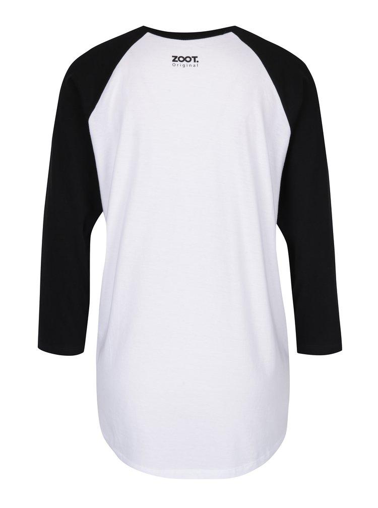 Černo-bílé dámské tričko s 3/4 rukávem ZOOT Originál David socha