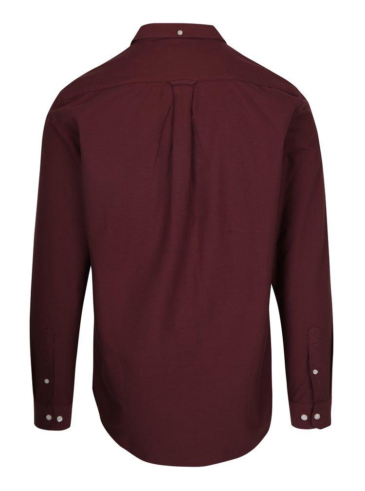 Vínová slim fit košile Farah Brewer