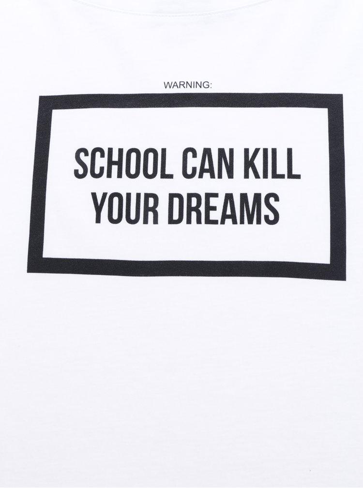 Bílé dámské oversize tričko ZOOT Originál School can kill